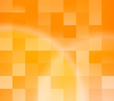 Abstract orange tiles background
