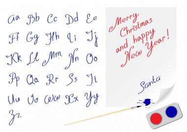 Alphabet marry christmas