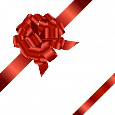 Ribbon and bow isolated