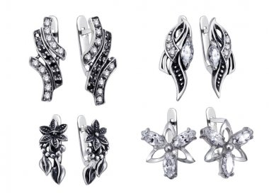 Earrings isolated on white bac