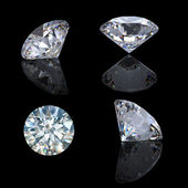Fotografie 3d runde brillant geschnitten diamant