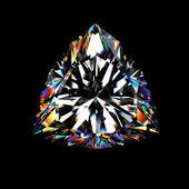 Fotografie 3D brillant diamant geschnitten