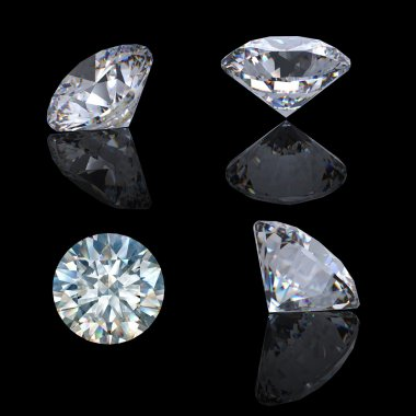 3d Round brilliant cut diamond