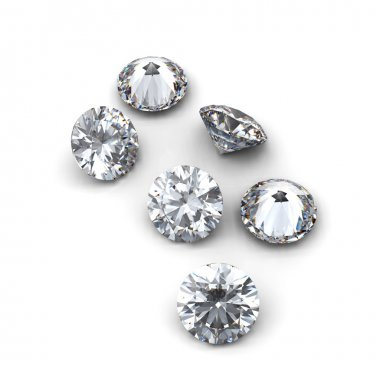 3d Round diamond