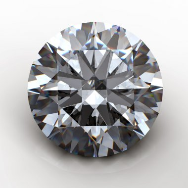 3d Round gems cut diamond