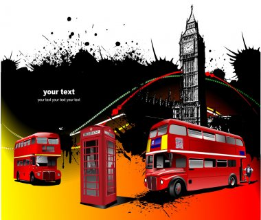 London rarity red images. Vector illustr