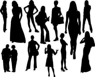 Women silhouettes. Vector illustration