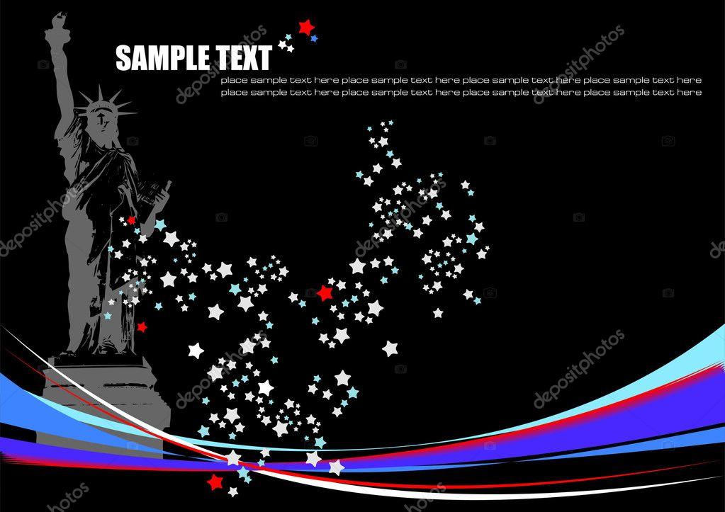 American image background. Vector illust