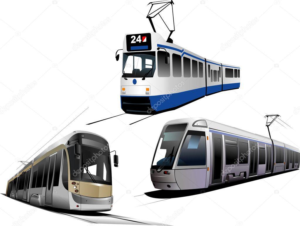Трамвай картинка на белом фоне