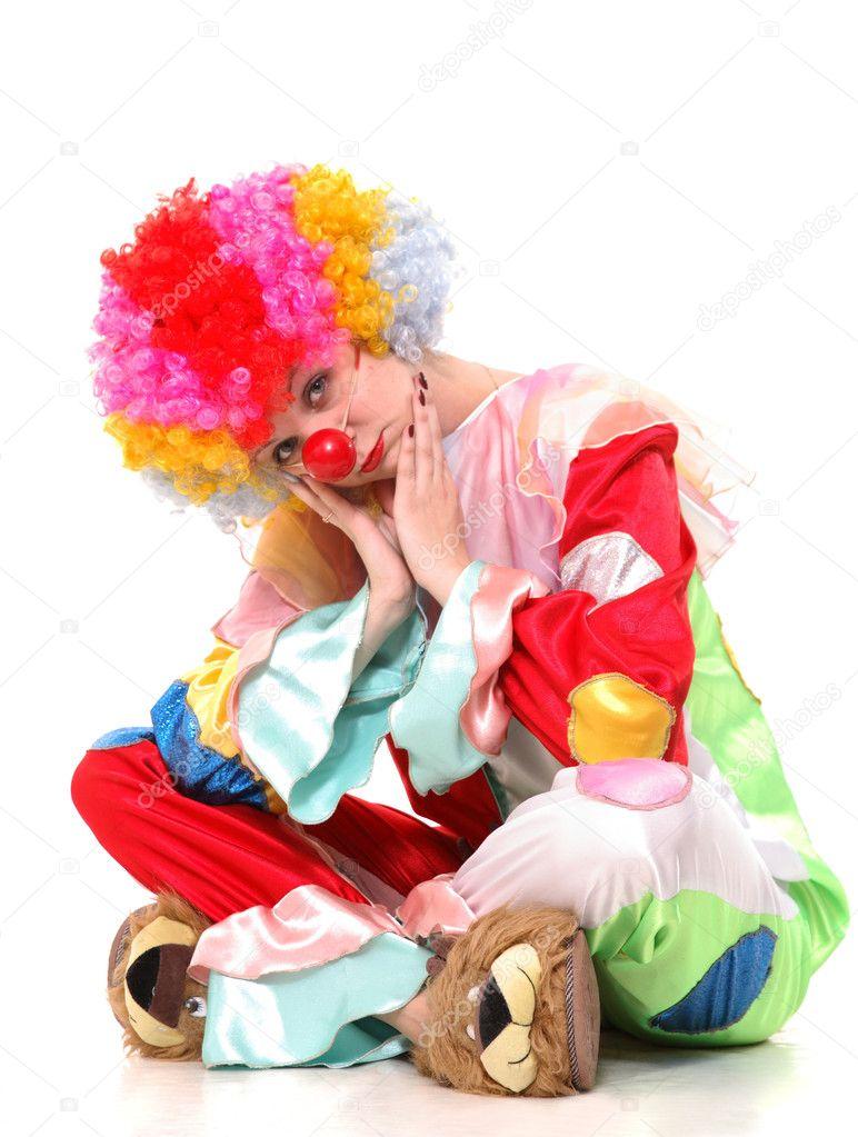 sad clown u2014 stock photo vikulin 2330322