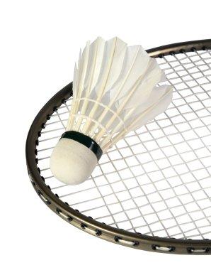 Shuttlecocks on a racket