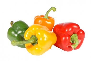 Red yellow orange green pepper