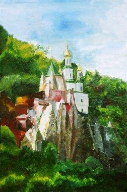 Painting, svyatogorsk Lavra, Ukraine