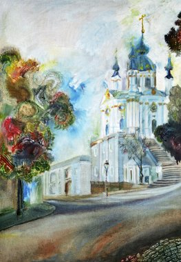 Painting, Cathedral Church in Kiev