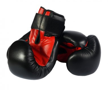 Boxing-gloves on the white background. (isolated)