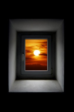 Window to sun