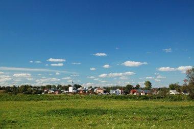 Russia village rural landscape