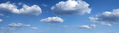 WIDE Blue sky and white cloud A blue sky
