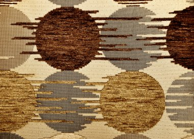 Brown textile flax fabric
