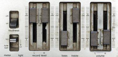 Grunge sound mixer console stock vector