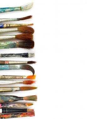 Brushes on white background