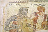 fragment starověké mozaiky