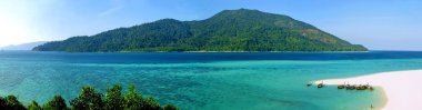 Panoramic view of tropical island