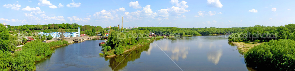 The panoramic view with Desna river