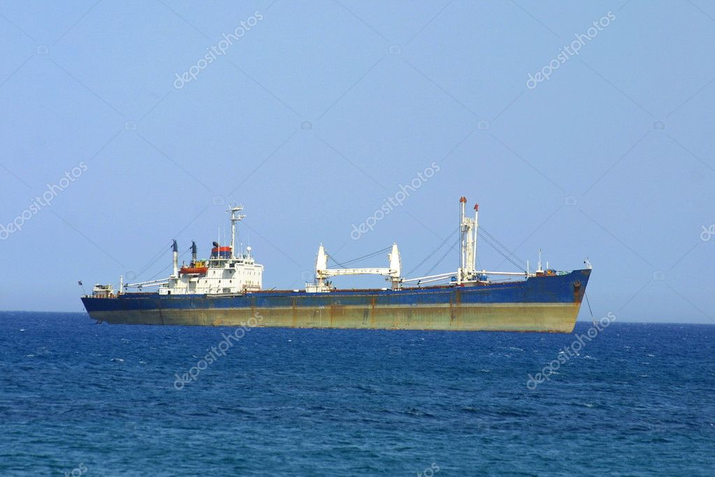 Ship in Mediterranean sea