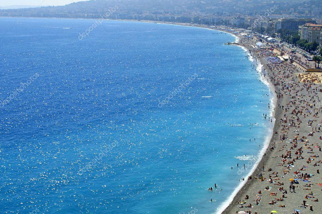 Pebble beach in Nice