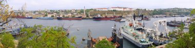 Panoramic view of Sevastopol Bay