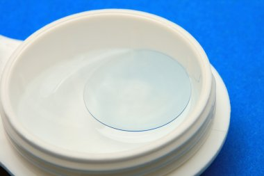 Contact lens in a container