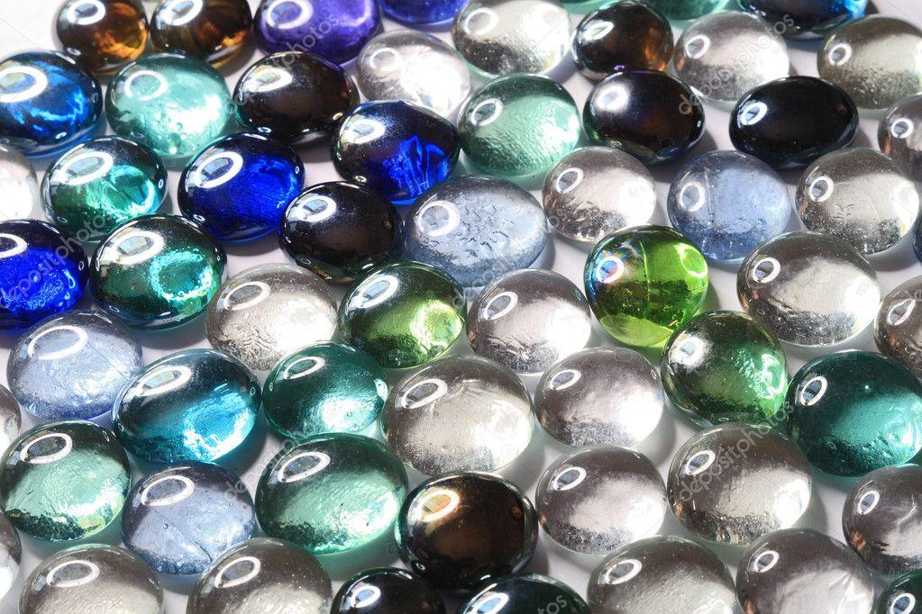 Szklane Kamienie Dekoracyjne Zdjęcie Stockowe Krugloff