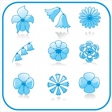 Vector set of flowers stock vector