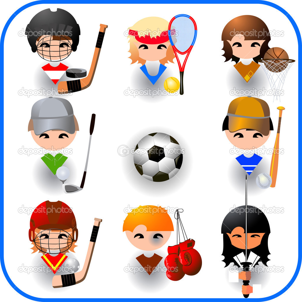 collection of sports vector u2014 stock vector ishmel 1378786