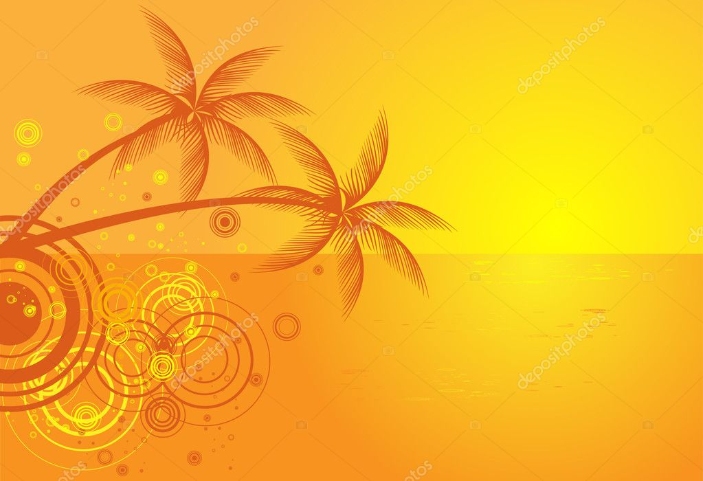 Tropical beach on summer background
