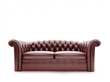 Royal furniture isolated front view