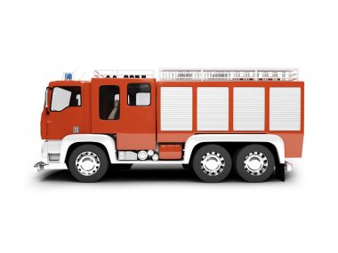 izole firetruck yan görünüm