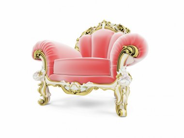 Royal red velvet furniture