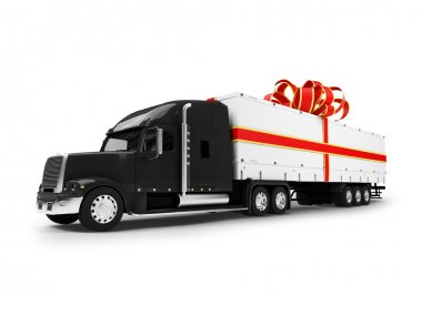 Present truck isolated black-red front v