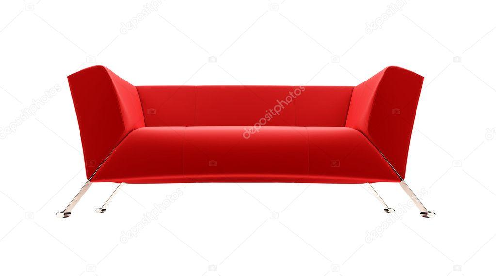 Rote Couch Weiß Stockfoto Fckncg 1155328