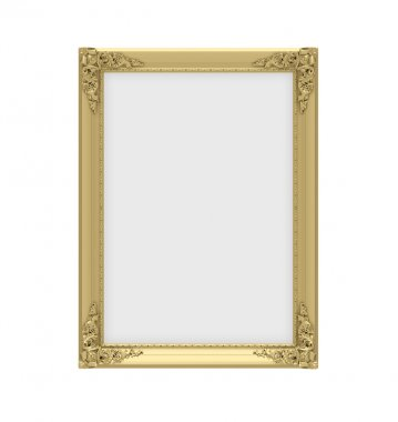 Golden frame over white