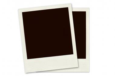 Two Polaroid frames isolated