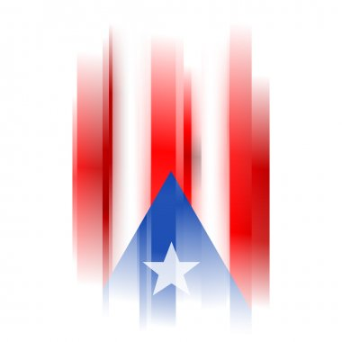 Abstract Puerto rico flag on white backg