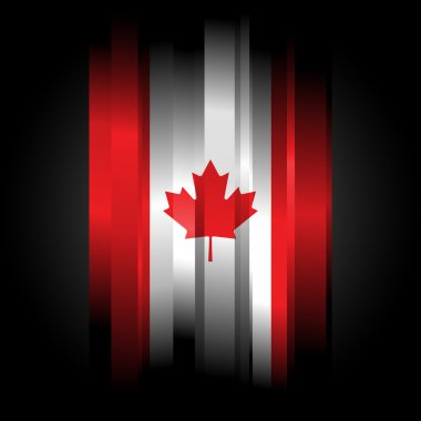 Abstract Canada Flag on black