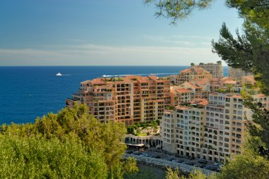 Modern apartment houses in Monte Carlo