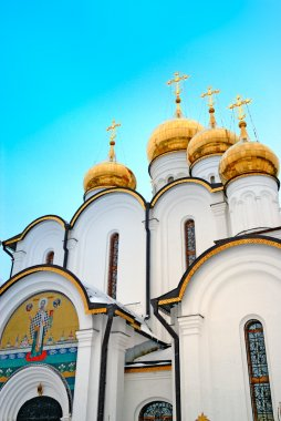 Gold domes of orthodox church