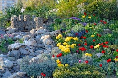 Decorative flower bed