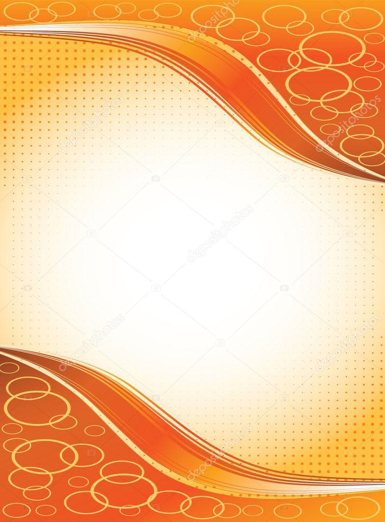 marco de naranja con ondas — Archivo Imágenes Vectoriales ...