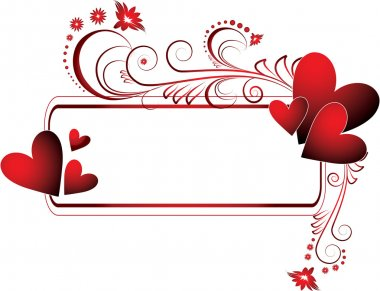 The vector illustration contains the image of valentines background clip art vector